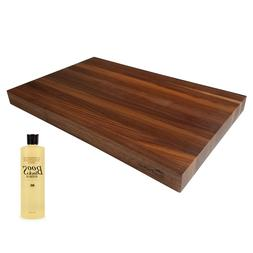 "HomeProShops 1-1/2"" x 12"" x 19"" Walnut Cutting Board w16oz J"
