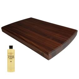 "HomeProShops 1.5""x12""x19"" Walnut Cutting Board w  16oz John"