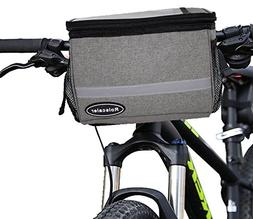 ROLSCALER Bicycle Handlebar Bag with Reflective Stripe for M
