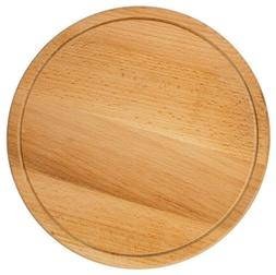 "10"" Round Wooden Cutting Board Beech Wood Made in Russia"