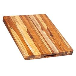 Proteak 106 Rectangle Edge Grain Cutting Board With Hand Gri