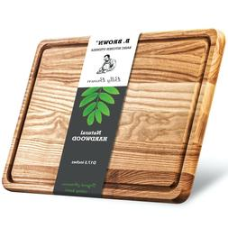 """17.7"""" Large Wood Cutting Board from hardwood. High quality."""