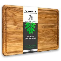 "17.7"" Large Wood Cutting Board from hardwood. High quality."