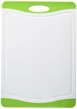 """Neoflam 17"""" Plastic Cutting Board In White And Green - Bpa F"""