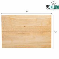 "18"" x 12"" x 1 3/4"" Wood Commercial Restaurant Solid Cutting"
