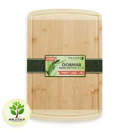 """18""""x12"""" Bamboo Wood Cutting Board Kitchen Butcher Carving Ch"""