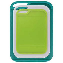 3 piece cutting boards green red free
