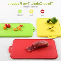 3Pcs Safe Cutting Board Color-coded Food Graded PP Cutting B
