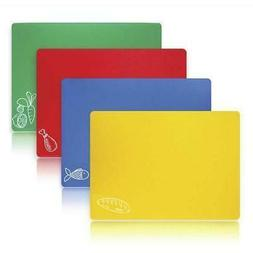 "4 pack Flexible Chopping Mat 12"" x 15"" Color Code Set Kitche"