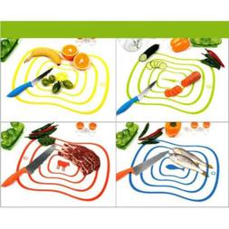 4Color Flexible Fruit Vegetable Meat Cutting Chopping Board