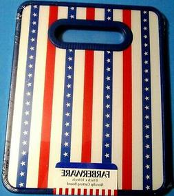 4th of July Farberware Nonslip Poly Cutting Board Red-White-