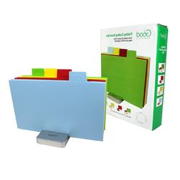 Cutting Board Set - Index Chopping Boards w Non-Slip Base -