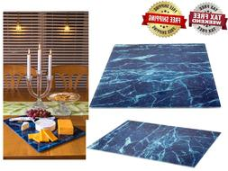 Glass Cutting Board Set by Clever Chef | 4 Non Slip Cutting