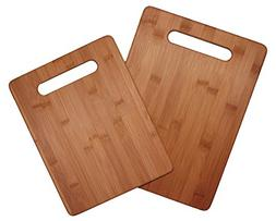 Totally Bamboo 2 Piece Cutting Board Set, 100% Bamboo For Fo