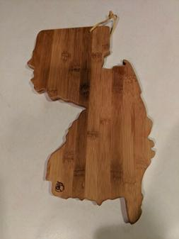 Totally Bamboo Cutting and Serving Board, New Jersey State M