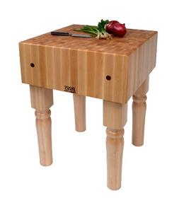 John Boos Block AB01 Maple End Grain Butcher Block Table, 34