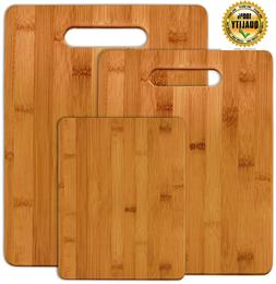 Kitchen Bamboo Cutting Board Set Wood Small Large Big Servin