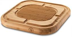 Premium Bamboo Carving Board with Deep Juice Groove, Meat Cu