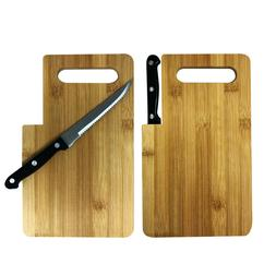 Bamboo Cutting Board with Built-In Knife - Pack of 12