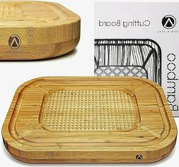 """Bamboo Cutting Board Extra Large Thick Butcher Block 17"""" x"""