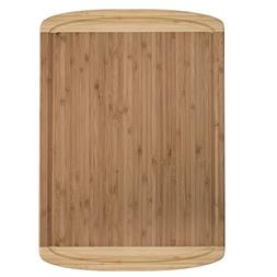 Bamboo Extra Large Cutting Board and Serving Tray with Juice