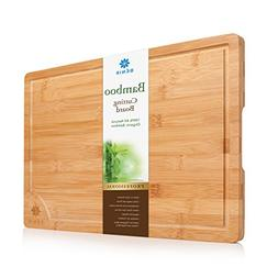 XL BAMBOO CUTTING BOARD SERVING TRAY - Longest Lasting Large