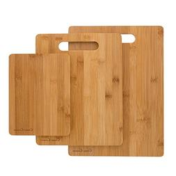 3 Piece Bamboo Cutting Board Set- Eco Friendly, Antimicrobia