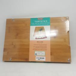 Neoflam Bamboo Cutting Board with Tray, Red