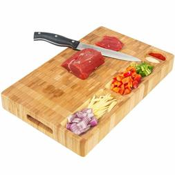 Bamboo Cutting Board with Trays Kitchen Food Serving Cheese