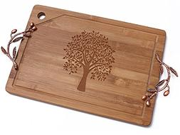 Extra Large Bamboo Cutting Board for Kitchen with Juice Groo