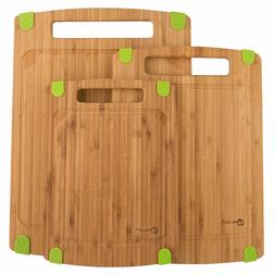 ZenWare Bamboo Cutting Boards - 3 piece, Triple-Ply, All Nat