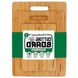 Freshware 3-Piece Bamboo Cutting Boards For Kitchen shaped s