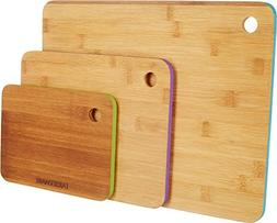 Farberware 3-Piece Bamboo Cutting Boards with Painted Edges,
