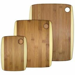 Bamboo Serving Cutting Board Set Easy to Clean 3 Piece High