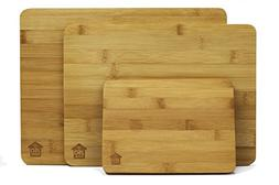 """Premium Bamboo Wood Cutting Boards for Kitchen: 13""""x10"""","""