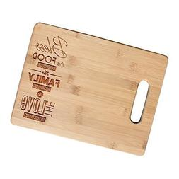 Bless Our Food - Bamboo Engraved Cutting Boards for Christma