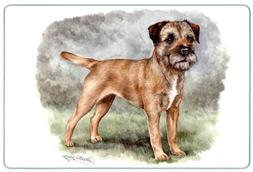 Canine Designs Border Terrier Tempered Glass Cutting Board -