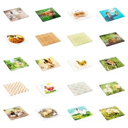 Ambesonne Break and Stain Resistant Cutting Board Food Safe