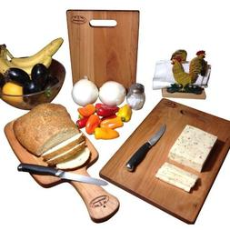 Cherry Cutting Board Hard Wood Reversible Bread Paddle Chees