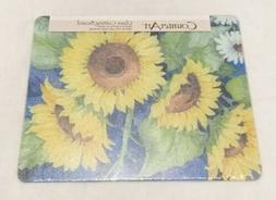 Counter Art Glass Cutting Board Blue And Yellow Sunflower Pr