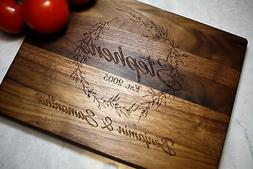Custom Personalized Wood Cutting Board Wedding Gift for Home
