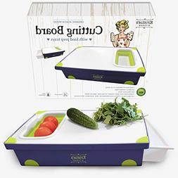Cutting Boards for Kitchen Plastic Cutting Board with Tray a