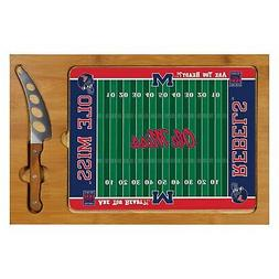 """Cutting/Serving Board Icon NCAA """"Ole Miss Rebels"""" Football R"""
