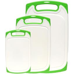 Dutis 3-piece Dishwasher Safe Plastic Cutting Board Set With