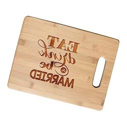 Eat, Drink and Be Married - Bamboo Cutting Board Wedding Gif