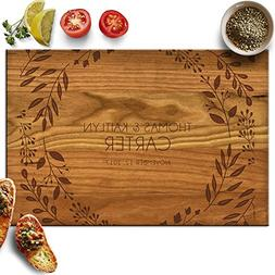 Froolu Elegant Leaves personalized wood cutting boards for R