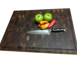 End Grain Butcher Block Cutting Board -- Walnut Cherry Wood
