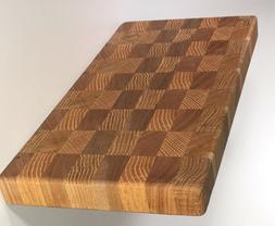 End Grain Cutting Board Oak & Birch Food Safe Perfect Size f