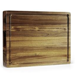Extra Large & Thick  Acacia Wood Cutting Board: 16 x 12 x 1.