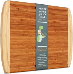 Greener Chef Extra Large Bamboo Cutting Board -   Cutting Bo